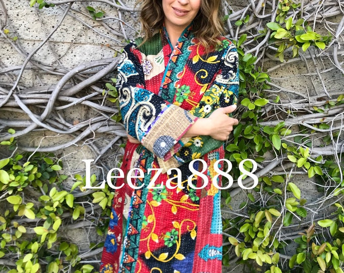 Colorado colors artist reversible kantha kimono style