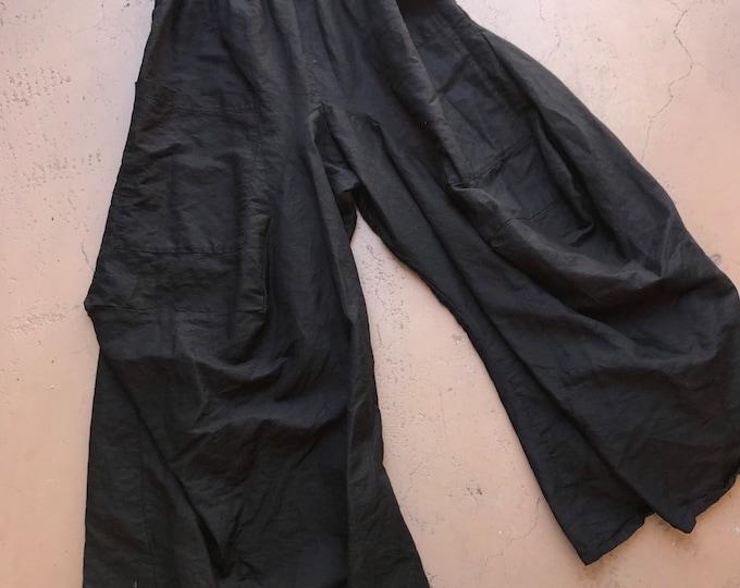 Black linen funky lagenlook pant