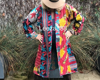 Reversible quilted car coat