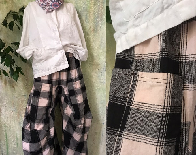 Flannel plaid funky lagenlook pant