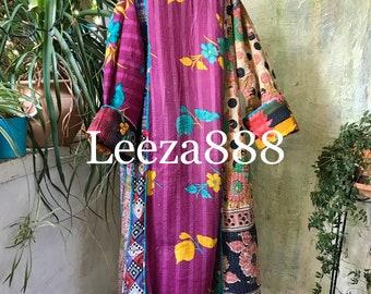 The Purple Queen plus size reversible opera kantha coat