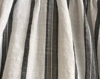 Charcoal and white morrocan stripe cotton lagenlook pant