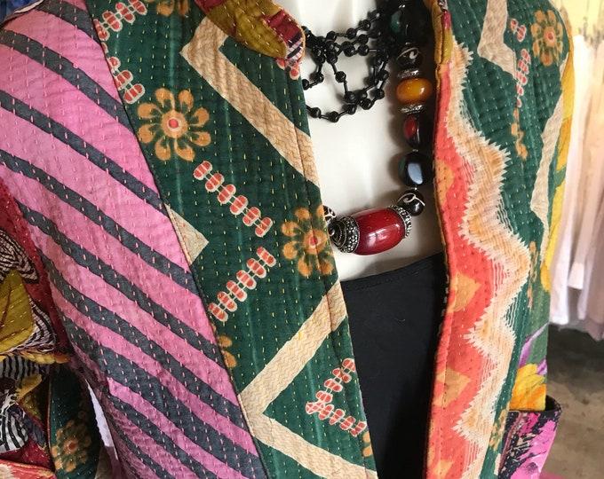 Designer kantha reversible coat