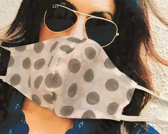 Cotton reversible mask with elastic