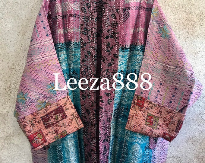 New Orleans Jazz Plus size reversible upcycled silk sari jacket