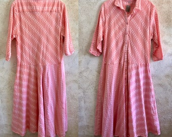 peachy cotton simple uncomplicated housedress