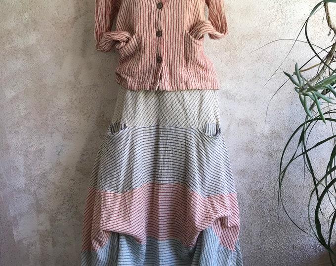 Prairie skirt in hopsack