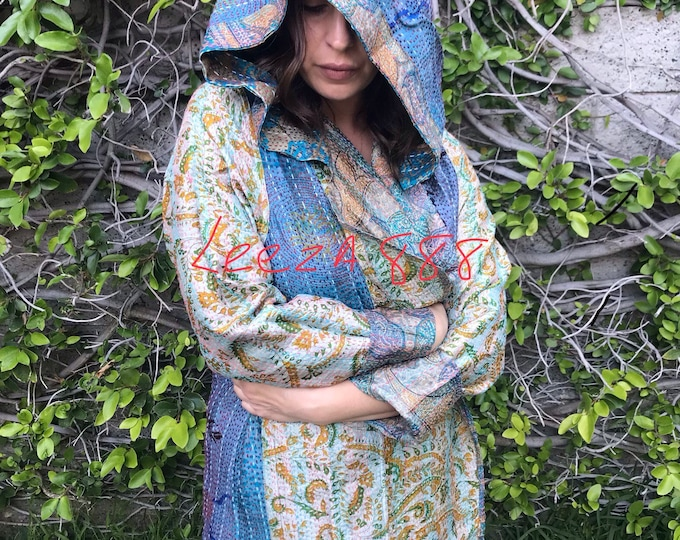Turks and Caicos vacation silk reversible hoodie