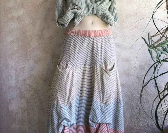 Prairie skirt in hopsack gauze