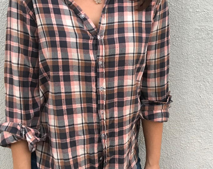 Super soft flannel boyfriend shirt