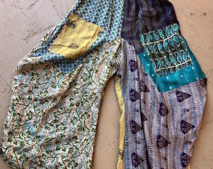 silk kantha funky lagenlook style pant in size medium