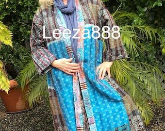 Dreamchaser coat in reversible silk