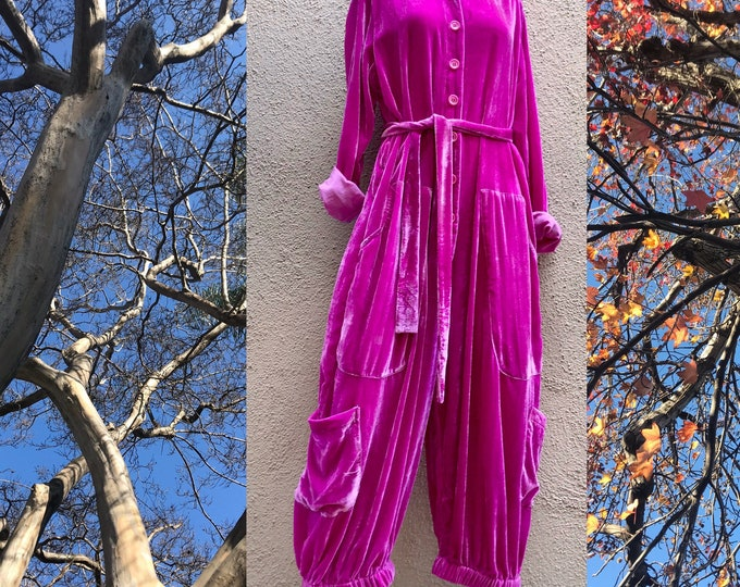 Silk velvet one size jumpsuit