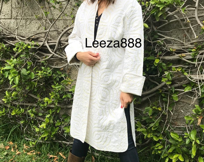 Shabby chic cutwork summer coat in white