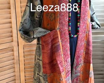 Tangerine silk reversible dress coat