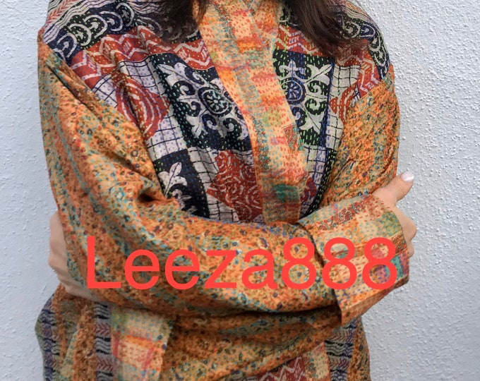 Things to do in Tokyo  kantha plus size reversible kimono jacket