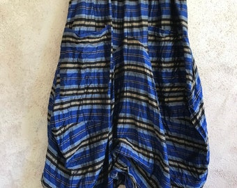 Funky skirt in washed silk dupioni