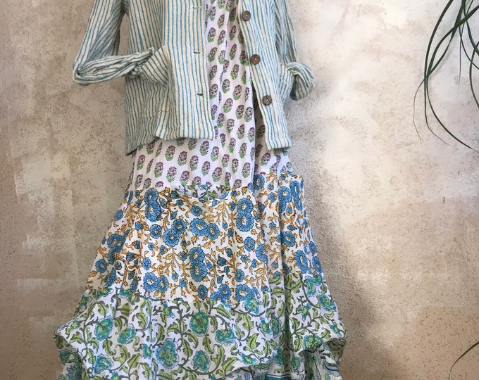 Farmgirl cotton spaghetti strap dress
