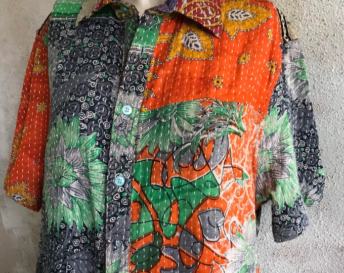 Kantha camp shirt