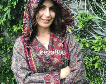 Cabernet lovers silk reversible hoodie