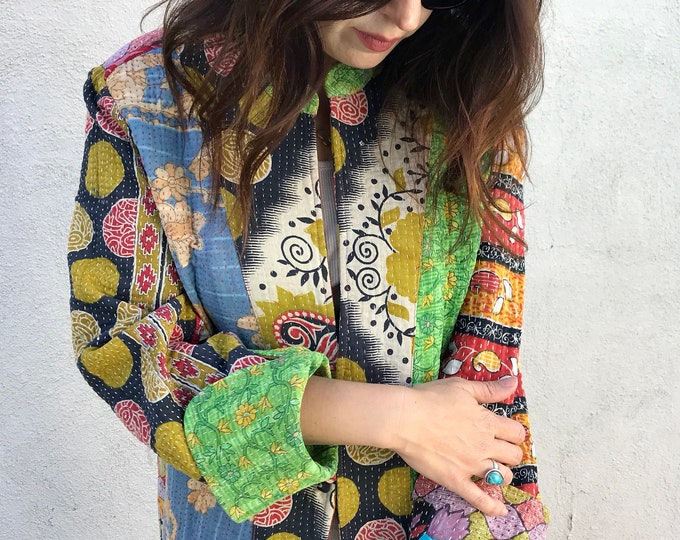 Gorgeous artist kantha coat
