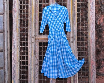 Plaid 8 gore pocket dress