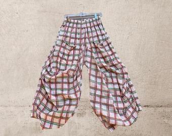 Super lightweight cotton plaid lagenlook pant