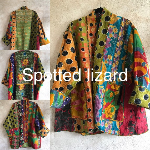 plus size Spotted Lizard reversible cotton jacket