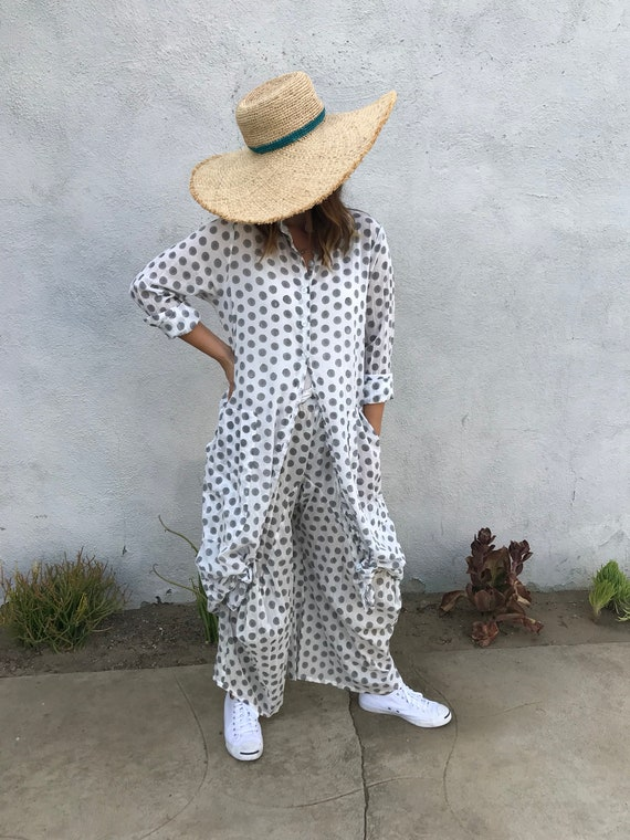 Size small polka dot lagenlook pant