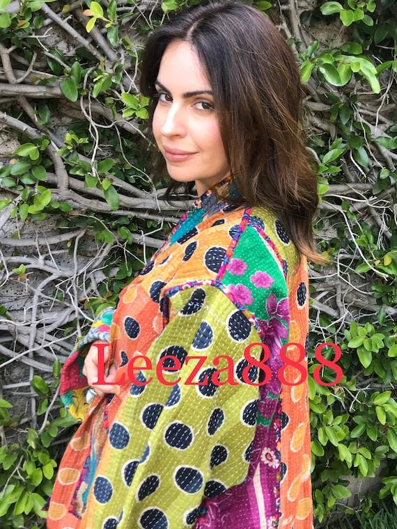 Art for Arts sake plus size reversible cotton kantha coat