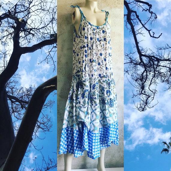 Farmgirl cotton spaghetti strap dress