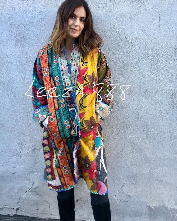 Artist kantha reversible kimono
