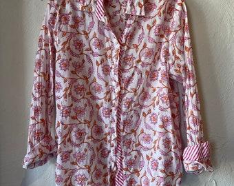 Basic washed cotton shirt