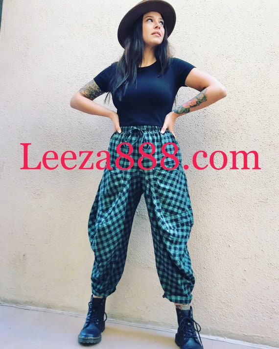 Funky Bicycle pant in Flannel plaid