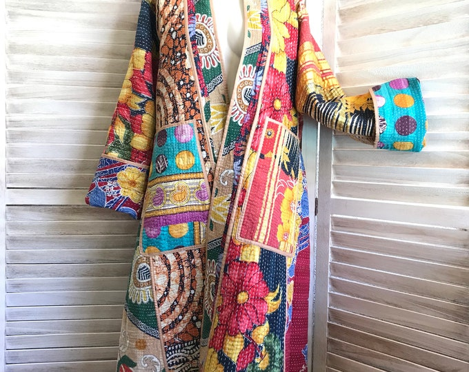 Artist reversible coat of many colors