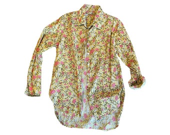 Classic Boyfriend shirt in cotton voile floral print