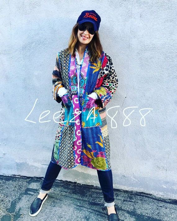 Super special artist reversible kantha kimono