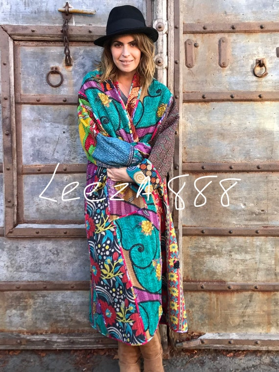 Showstopping maxi length plus size reversible coat