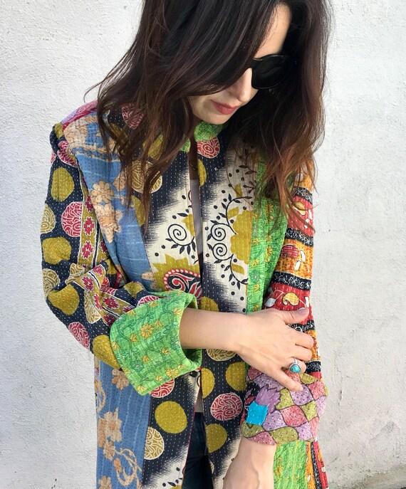 Gorgeous artist kantha coat