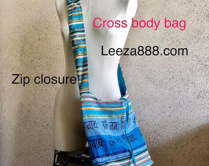 Cross body cotton bag