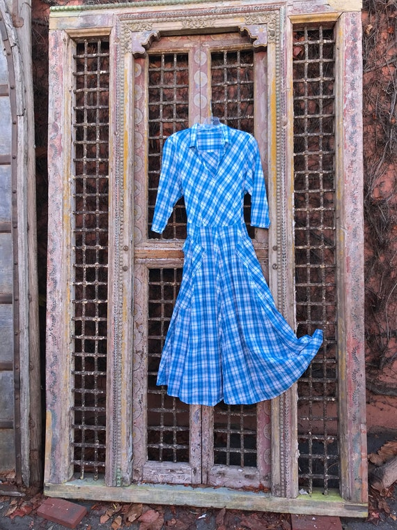 Plaid 8 gore pocket dress