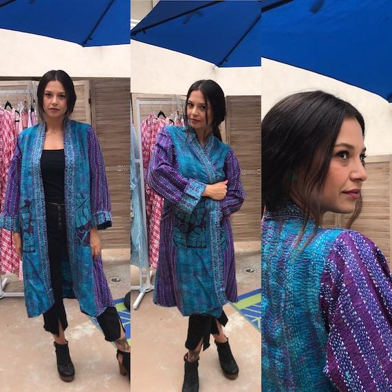 Empress of the Tarot Stunning reversible silk kantha kimono
