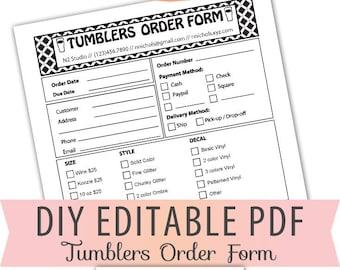 order form etsy