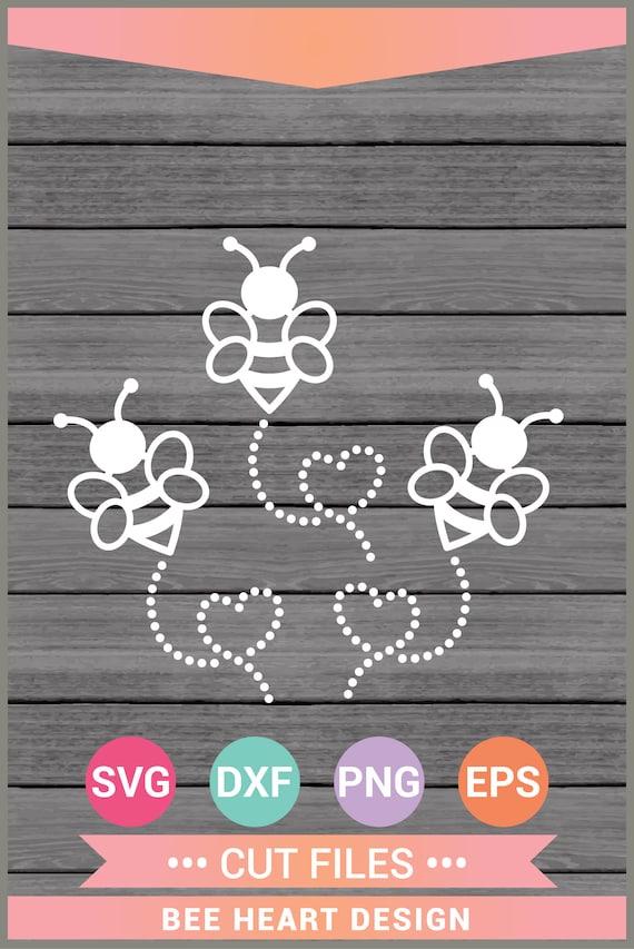 Bee Heart Svg Cut Files Cricut Design Space Etsy