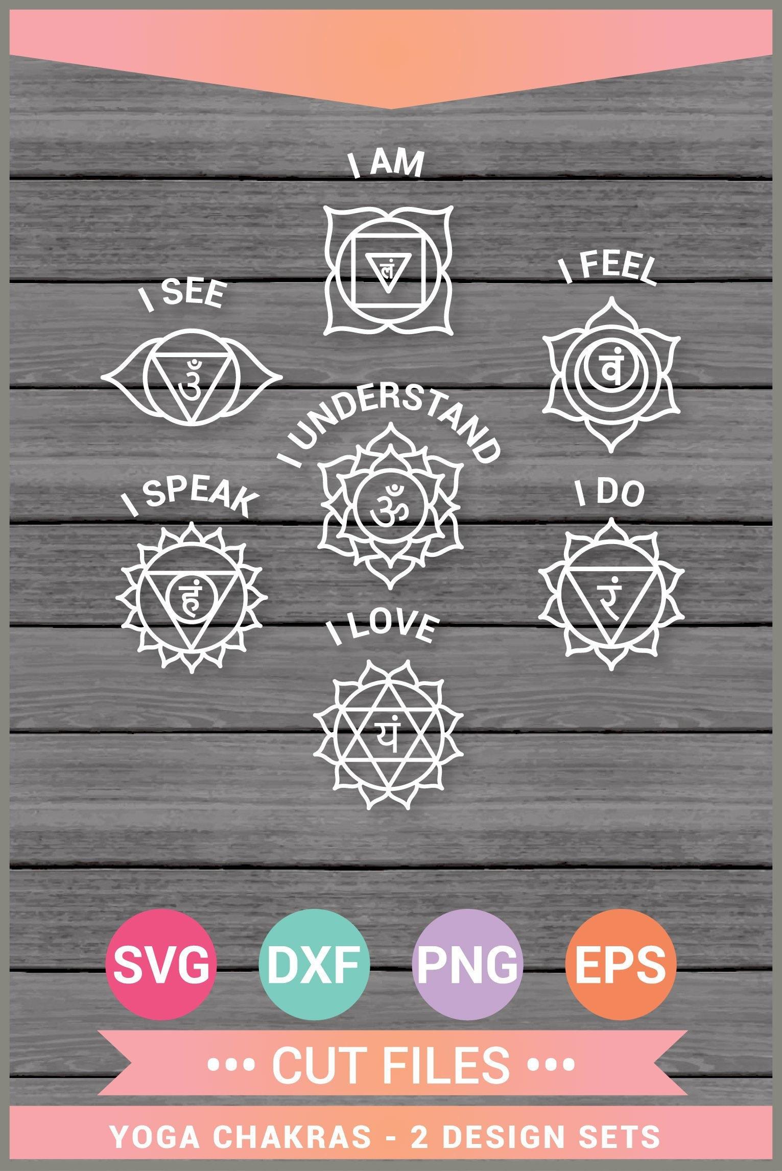 Chakras SVG Bundle 7 Chakras SVG Yoga Kundalini Meditation Spiritual Svg Chakras SVG Clip Art Chakra Chakras Print Cricut Silhouette Cameo