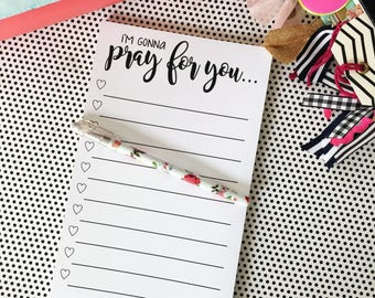 Prayer List, Note Pads, Checklist, To Do List, Stationery, Daily To Do Note Pad, bible study gift, Coworker Gift, Planner gift