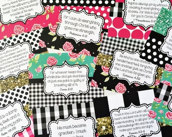 Scripture Cards, Bible Journaling Cards, Planner Cards, Scripture Memory Cards, Bible Verse Cards