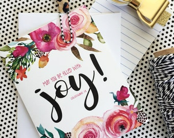 Scripture Note Cards, Floral Stationery, Bible Verse Notes, Just because cards