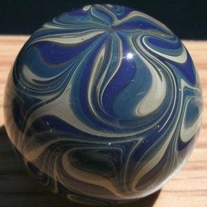 Sparkling Blue Cabinet Knob Round Glass Drawer Pull Black Aqua DP003 Round Hand Blown Glass