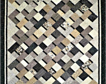 Simple Ribbons Quilt Pattern #450e